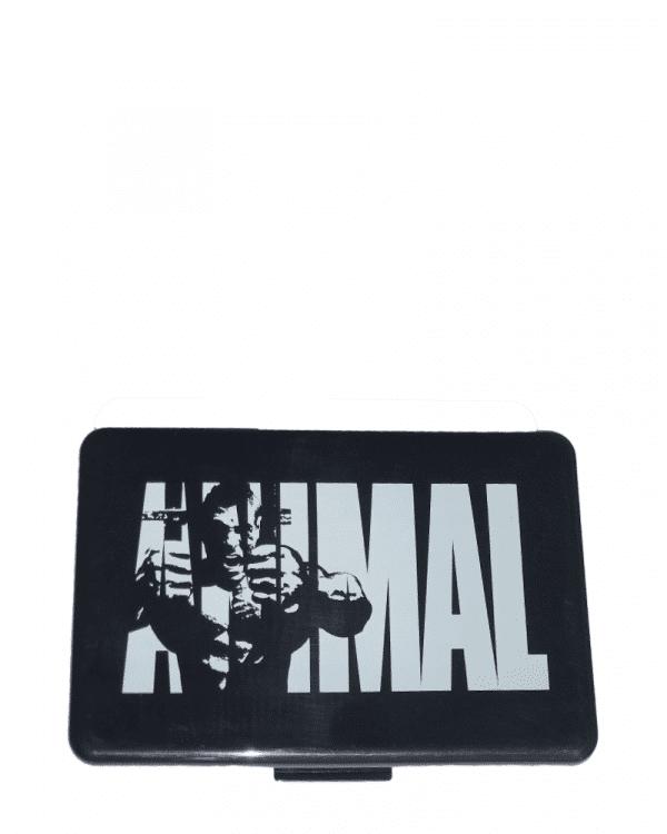 Animal Pill Case Black with White Logo